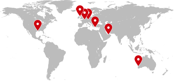 Contacts Medical Conference - World map blank without borders